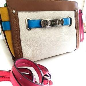 Coach Swagger Colorblock Wristlet Wallet Rainbow